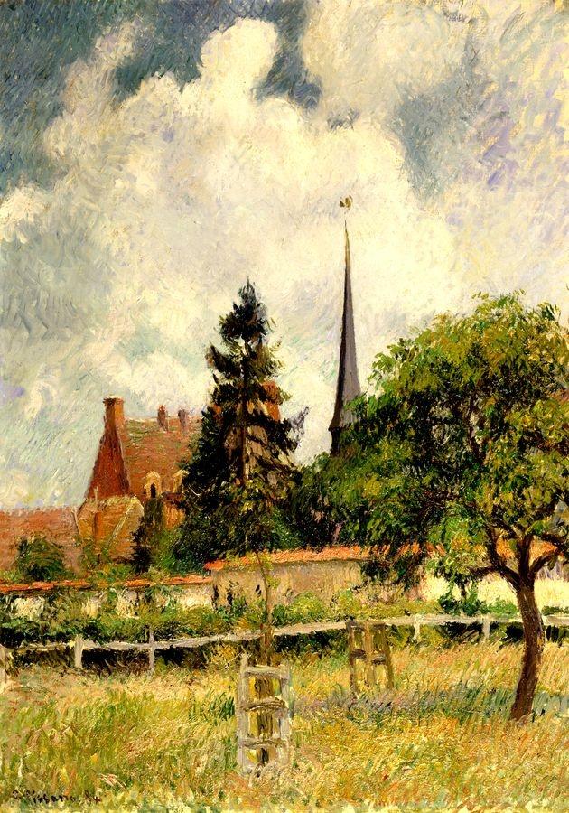 Obraz VCP-478 Camille Pissarro - Kostel v Eragny