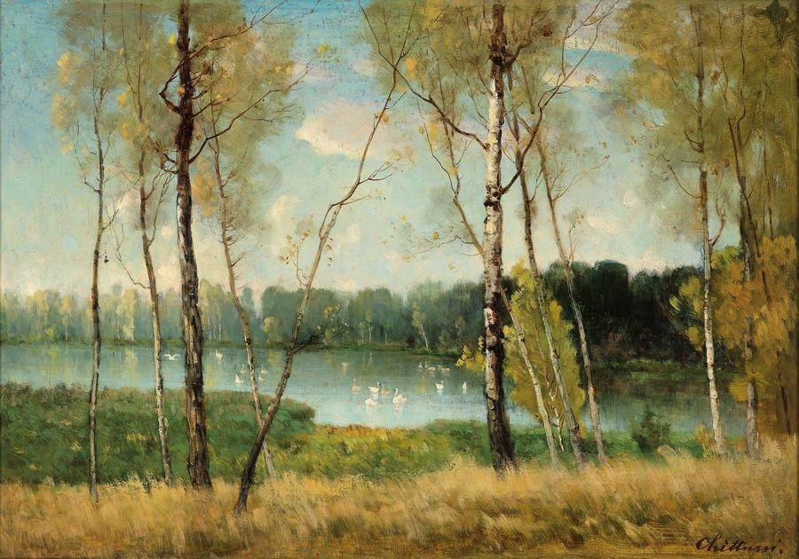 Obraz 647 Antonín Chittussi - Jezero v Ermenonville