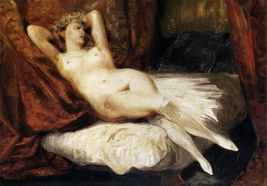 VEF 17 Eugene Ferdinand Victor Delacroix - Ženský akt na pohovce