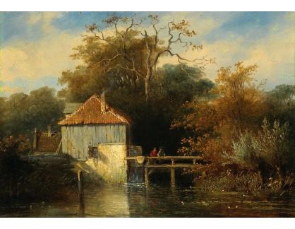 Slavné obrazy III-DDSO-521 Charles Leickert - Krajina s mostem