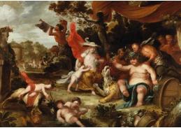 Slavné obrazy X DDSO-1028 Simon de Vos - Svátek Bacchuse