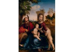 Slavné obrazy XVII-64 Fra Bartolomeo - Odpočinek na útěku do Egypta