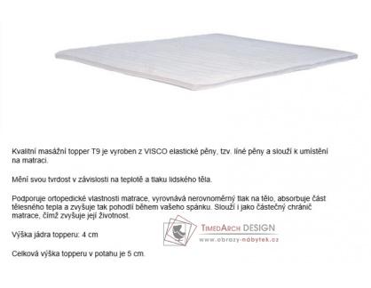 T9, topper 160x200x5cm, visco-elastická pěna
