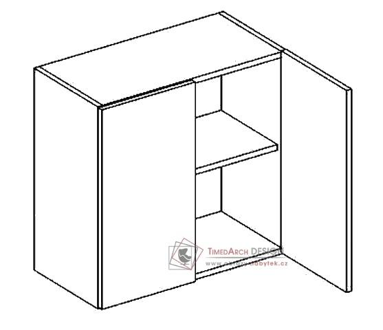 Horní skříňka dvojdvéřová W60 ANGEL bílá / bílý lesk