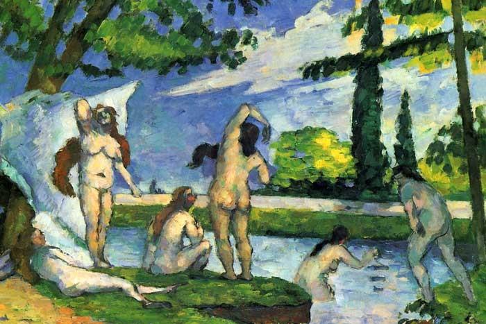 R10-10 Paul Cézanne - Koupající se