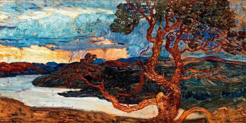 Obraz panorama 386 Helmer Osslund - Krajina