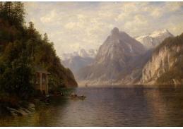 Slavné obrazy VIII-144 Joseph Schoyerer - Loďkou přes jezero