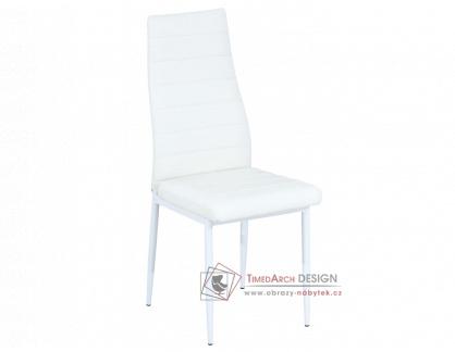 H-261, jídelní čalouněná židle, bílá / ekokůže bílá