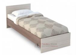 BASIA KP-554, postel 80x200cm, jasan šimo tmavý / jasan šimo světlý