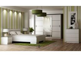 VISTA, ložnicová sestava nábytku, bílá