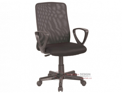 Kancelářská židle SQ-83 látka mesh černá