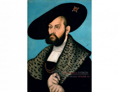 VlCR-211 Lucas Cranach - Portrét markraběte Albrechta z Brandenburg-Ansbachu