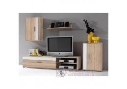 ASOLE, obývací stěna, dub sonoma / bílá
