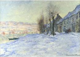 R8-107 Claude Monet - Západ slunce v zasněženém Lavacourt