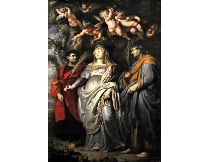 VRU99 Peter Paul Rubens - Flavia Domitilla z Terracina, Nereus a Achilleus v Chiesa Nuova v Římě