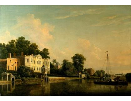 VANG170 Samuel Scott - Pohled na vilu Alexander v Twickenhamu