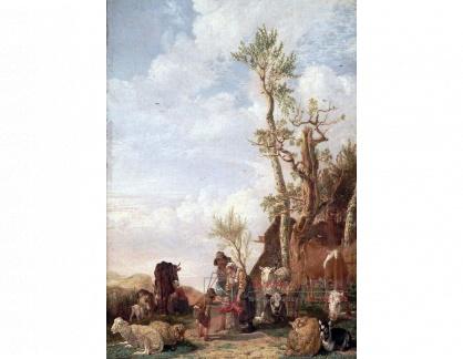 VH780 Paulus Potter  - Rolníci se zvířaty