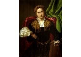 VLL 32 Lorenzo Lotto - Portrét Laury da Pola