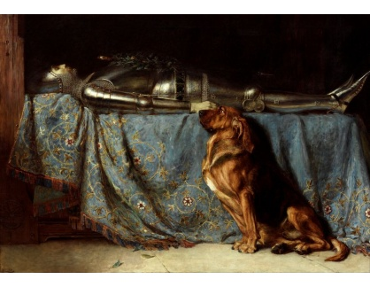 Slavné obrazy XVI-326 Briton Riviere - Odpočinek