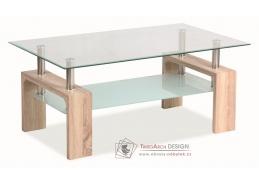Konferenční stolek LISA BASIC dub sonoma / sklo