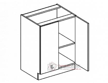 PREMIUM, dolní skříňka 2-dvéřová D60, olše