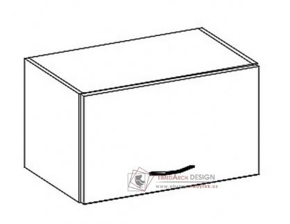 KARMEN, horní skříňka nad digestoř W60OK, šedá / krémový lesk
