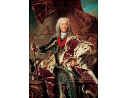 PORT-271 Hyacinthe Rigaud - Portrét knížete Josefa Václava z Lichtenštejna