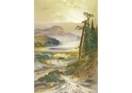 Slavné obrazy X 11 Thomas Moran - Pohoří v Colorado