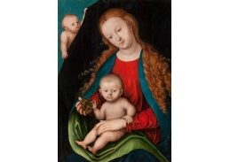 D-6083 Lucas Cranach - Madonna s dítětem před závěsem