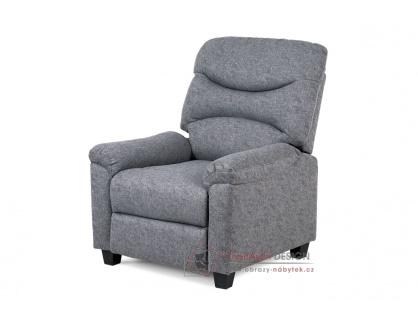 TV-4085 GREY2, relaxační křeslo, látka šedá