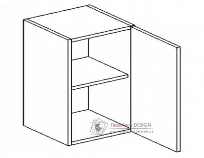 Horní skříňka jednodvéřová W60P PREMIUM de LUX hruška - pravá