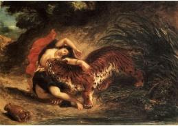VEF 03 Eugene Ferdinand Victor Delacroix - Indka napadená tygrem