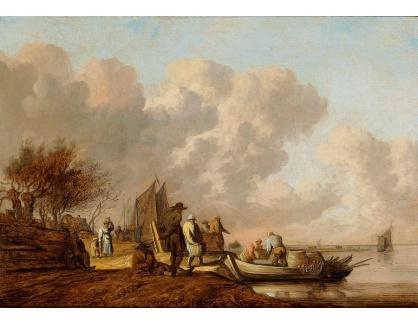 Slavné obrazy II-DDSO-452 Anthony van Croos - Rybáři vykládající svůj úlovek