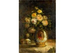 Slavné obrazy XVII-499 Hüseyin Zekai Pasa - Zátiší s růžemi