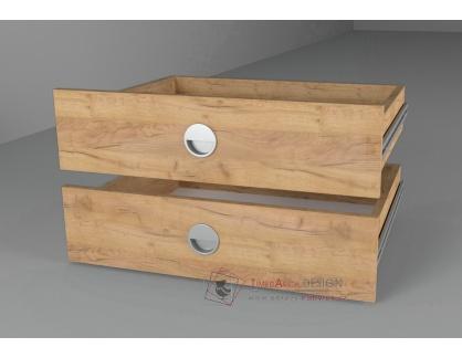 Zásuvky 43x60cm do skříně - sada 2ks, dub kraft zlatý