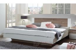 MIRABEL 293, postel 180x200cm, bílá / dub bahenní