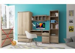 MADAGASKAR I, obývací stěna, dub sonoma / grafit