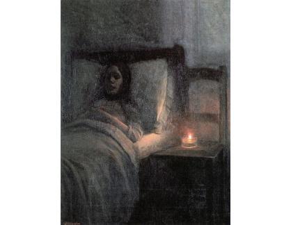 Jakub Schikaneder - U dívčina lože, detail