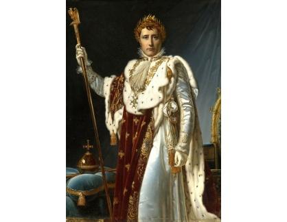 Slavné obrazy XVII-120 Francois Pascal Simon Gérard - Portrét Napoleona v korunovačních šatech