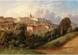 D-9367 Franz Barbarini - Pohled na Hradčany v Praze