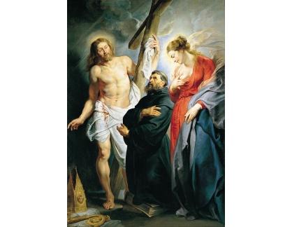 VRU213 Peter Paul Rubens - Svatý Augustín mezi Kristem a Pannou Marii