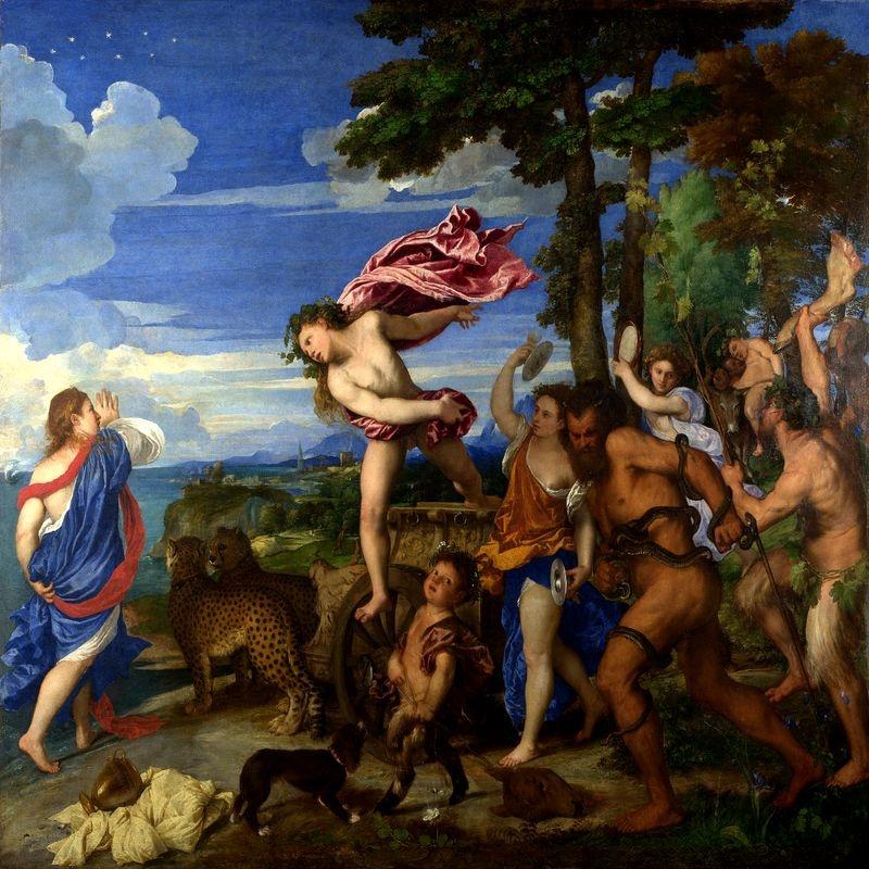 Tizian - Bacchus a Ariadne