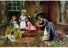 Slavné obrazy IX 139 Francois Brunery - Milé setkání