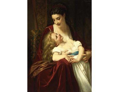 Slavné obrazy XVII-497 Hugues Merle - Francouzská mateřská láska