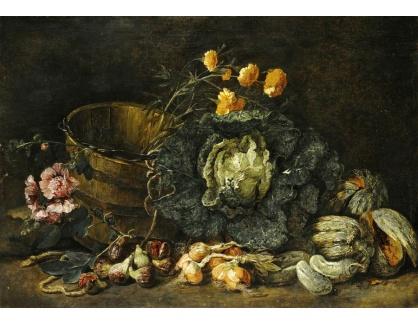 Krásné obrazy IV-53 Jan Fyt - Zátiší s cibulí a jinou zeleninou