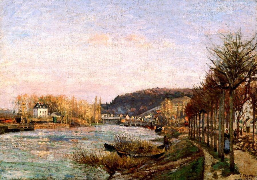 VCP-458 Camille Pissarro - Seina v Bougival