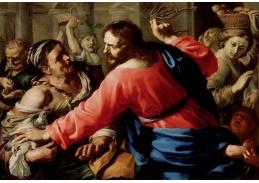 Slavné obrazy XI-114 Bernardino Mei - Kristus očišťující chrám