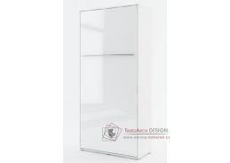 CONCEPT PRO CP-03, vysoká výklopná postel 90x200cm, bílá / bílý lesk
