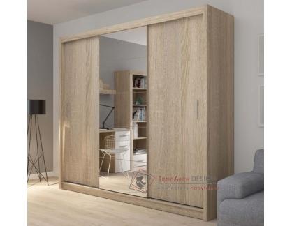FADO, skříň s posuvnými dveřmi a zrcadlem 235cm, výběr provedení