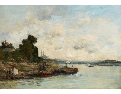 Slavné obrazy II-DDSO-397 Albert Lebourg - Seina v Paříži